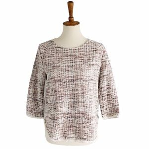 Anthropologie W5 Textured Fringe Blouse Size Small